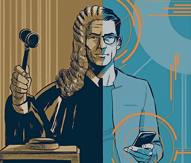 direito - tecnologia - ilustração (Foto: Olavo Costa)