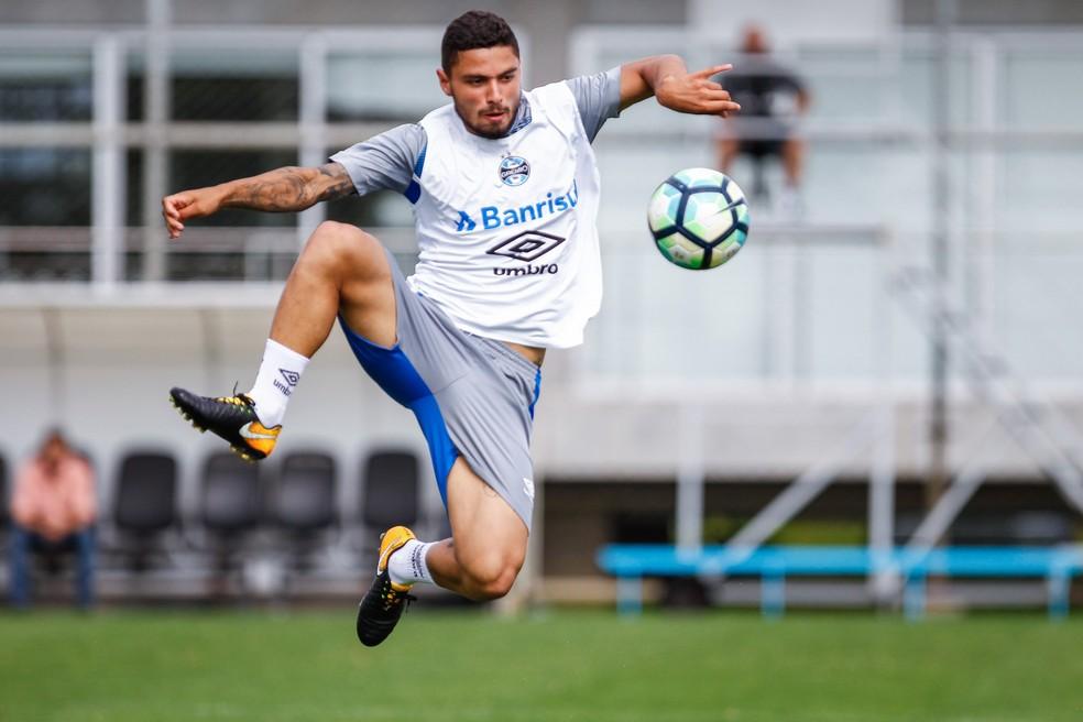Jovem Dionathã deve ganhar nova chance no ataque do Grêmio (Foto: Lucas Uebel/Grêmio/Divulgação)