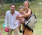 Cesar Tralli e Ticiane Pinheiro com a filha, Manu | Reprodução/Instagram