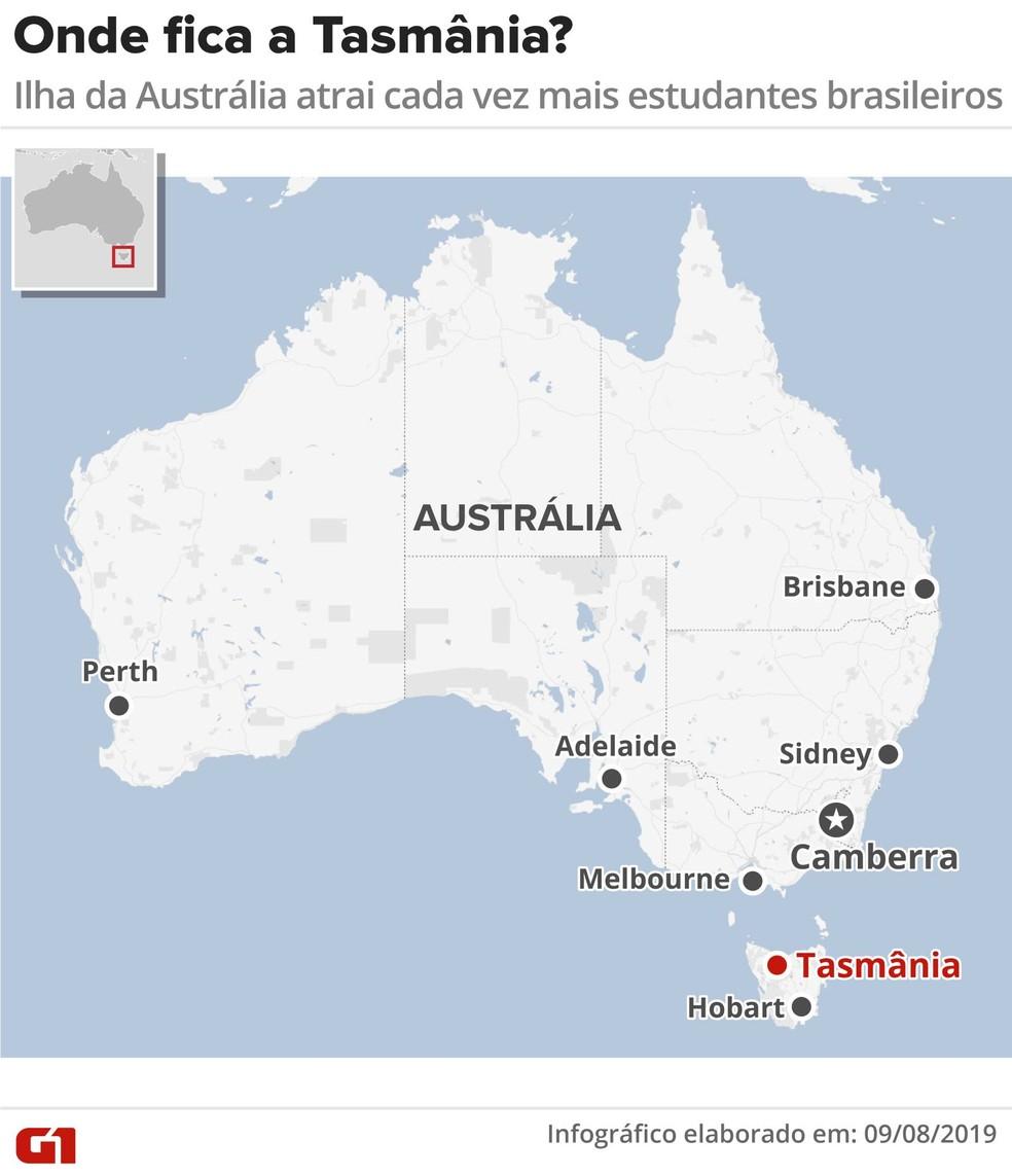 Visto temporário de estudante na Tasmânia ajuda a chance de brasileiros conseguirem residência na Austrália — Foto: Guilherme Luiz Pinheiro/G1