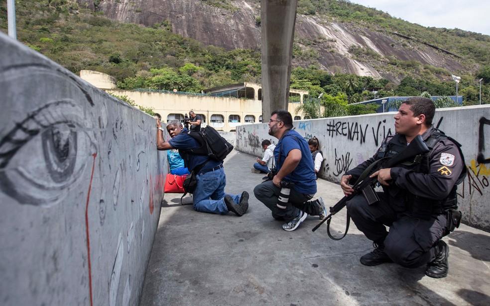Ação da PM na Rocinha — Foto: Arquivo: Márcio Mercante/Agência O Dia/Estadão Conteúdo