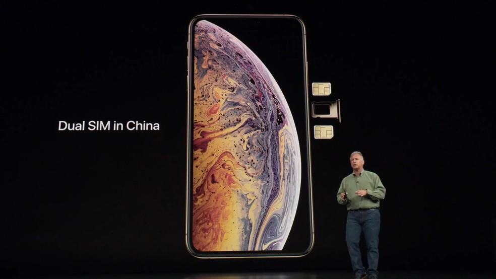 iPhone XS terão edição especial, com suporte ao nano SIM — Foto: Reprodução/Apple