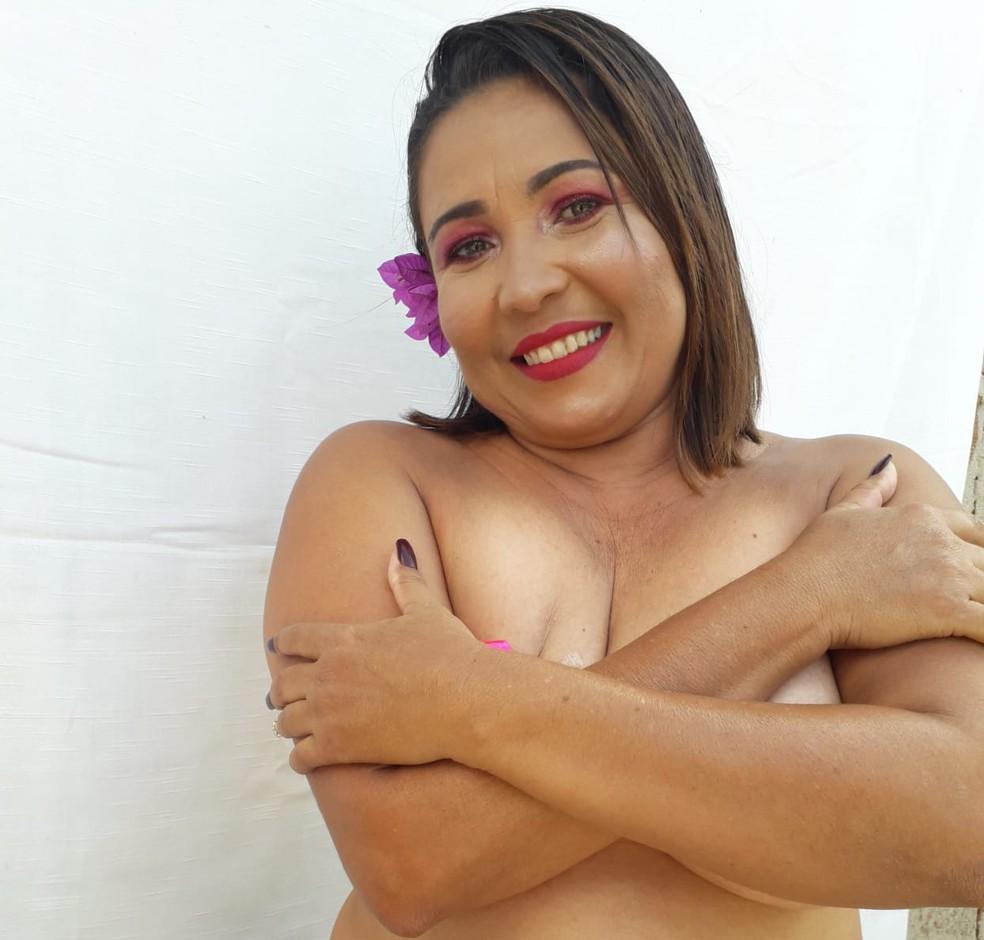 Joelma descobriu que tinha câncer de mama há cerca de três anos — Foto: Joeliane dos Santos Bonifácio Viana/Arquivo pessoal