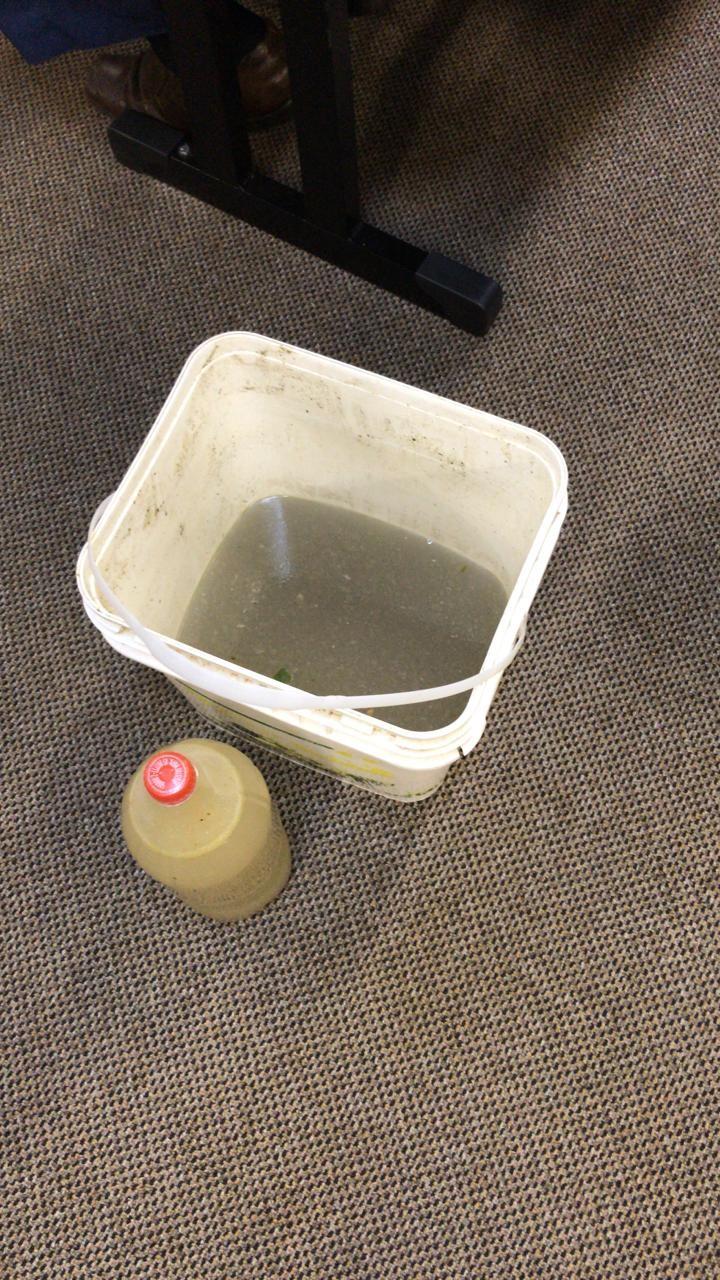 Em protesto por falta de saneamento, moradores levam balde de esgoto para sessão da Câmara de Umuarama - Noticias