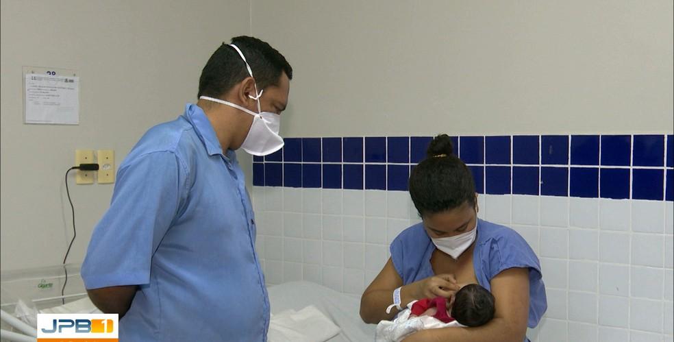 Laura deu à luz Nikolas, sem saber que estava grávida, em João Pessoa — Foto: TV Cabo Branco/Reprodução