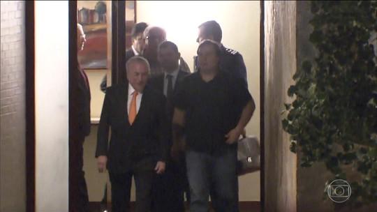 Rodrigo Maia recebe Temer e ministros na residência oficial da Câmara