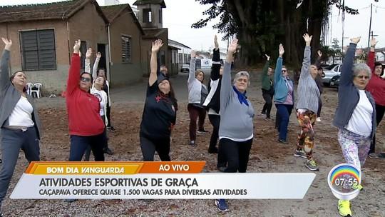 Caçapava tem 1,5 mil vagas abertas para atividades esportivas gratuitas