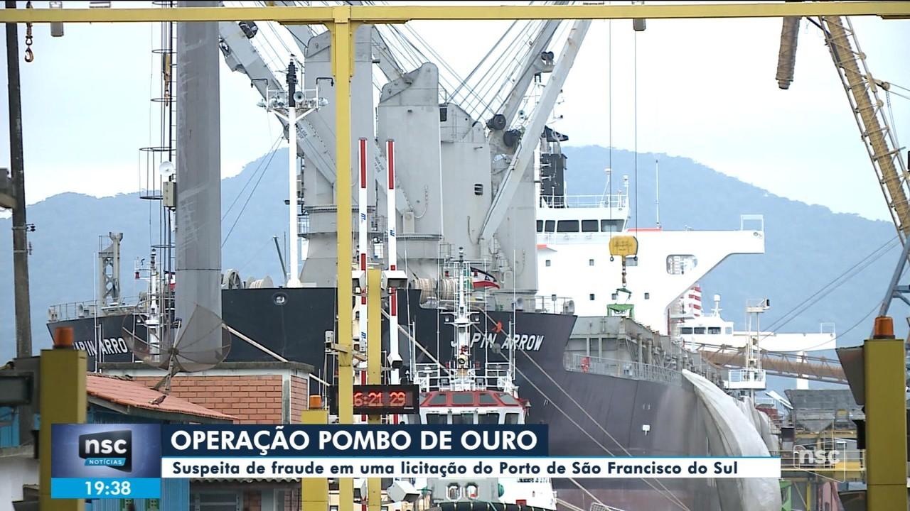 Duas pessoas são presas suspeitas de fraude em licitação em porto