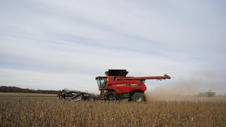 Colheita de soja (Foto: REUTERS/Bryan Woolston)