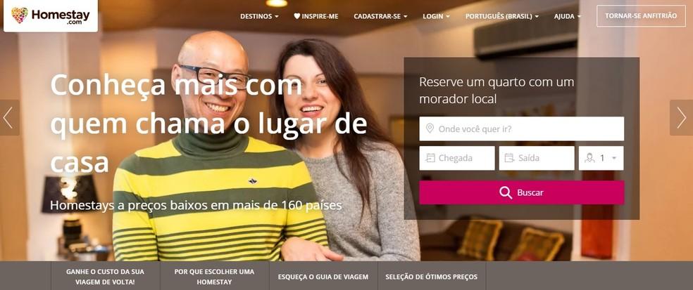 Com o Homestay, viajantes se hospedam em casas de anfitriões em qualquer lugar do mundo (Foto: Reprodução/Homestay)