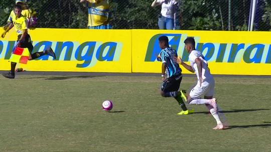 Melhores momentos: Santos 3 x 4 Grêmio pela Copa RS de Futebol Sub-20