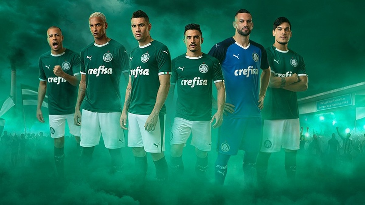 Palmeiras e Puma iniciam parceria em virada do ano  estreia da camisa será  em 3 de janeiro  5f174a8a3751a