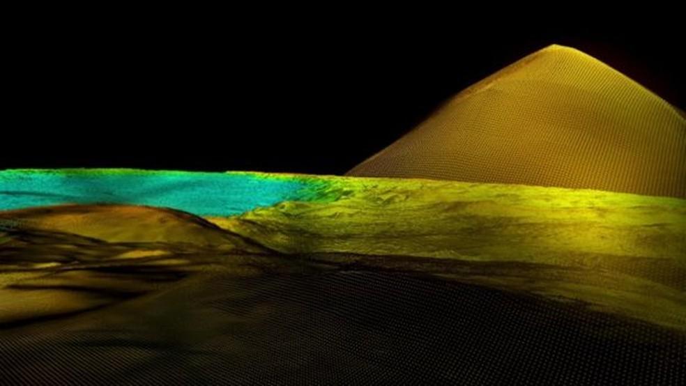 Tecnologia Lidar revelou 60 mil ruínas, como esta pirâmide maia, que levarão anos para serem plenamente entendidas pelos cientistas (Foto: Wild Blue Media/Channel 4/National Geographic )