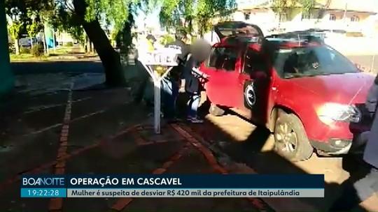 Mulher é presa suspeita de desviar R$ 420 mil da Prefeitura de Itaipulândia