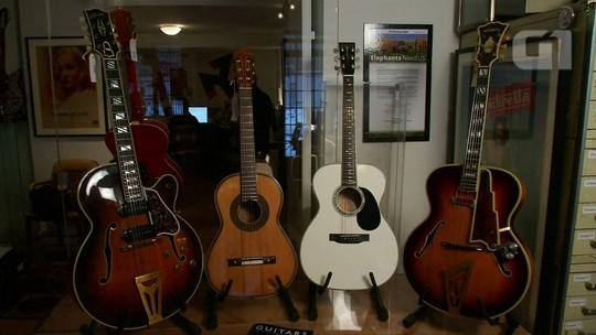Guitarras históricas e de celebridades vão a leilão