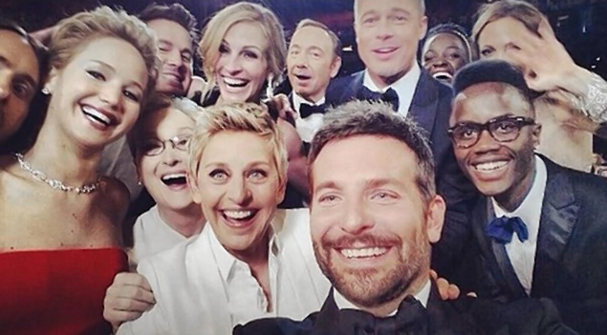 A foto mais retuitada da história - o selfie estrelado de Ellen DeGeneres no Oscar (Foto: Reprodução)