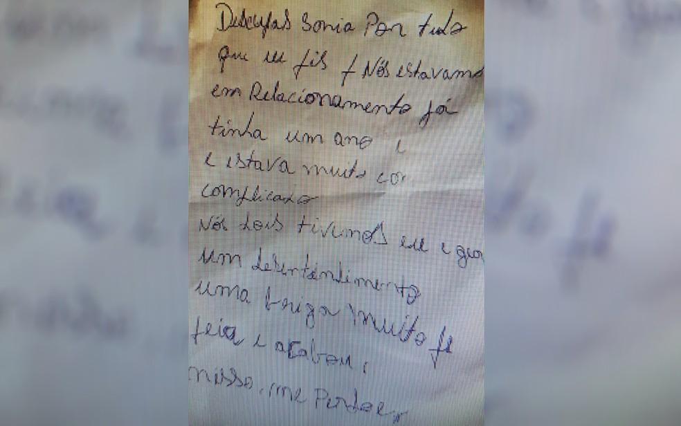 Suspeito de matar Geane Silva de Oliveira, Marcos Lima dos Santos deixa carta no local do crime (Foto: Polícia Civil/ Divulgação)