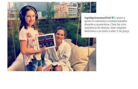 Ingrid Guimarães ganhou a colaboração da filha, Clara, nas gravações do 'Além da conta', do GNT Reprodução