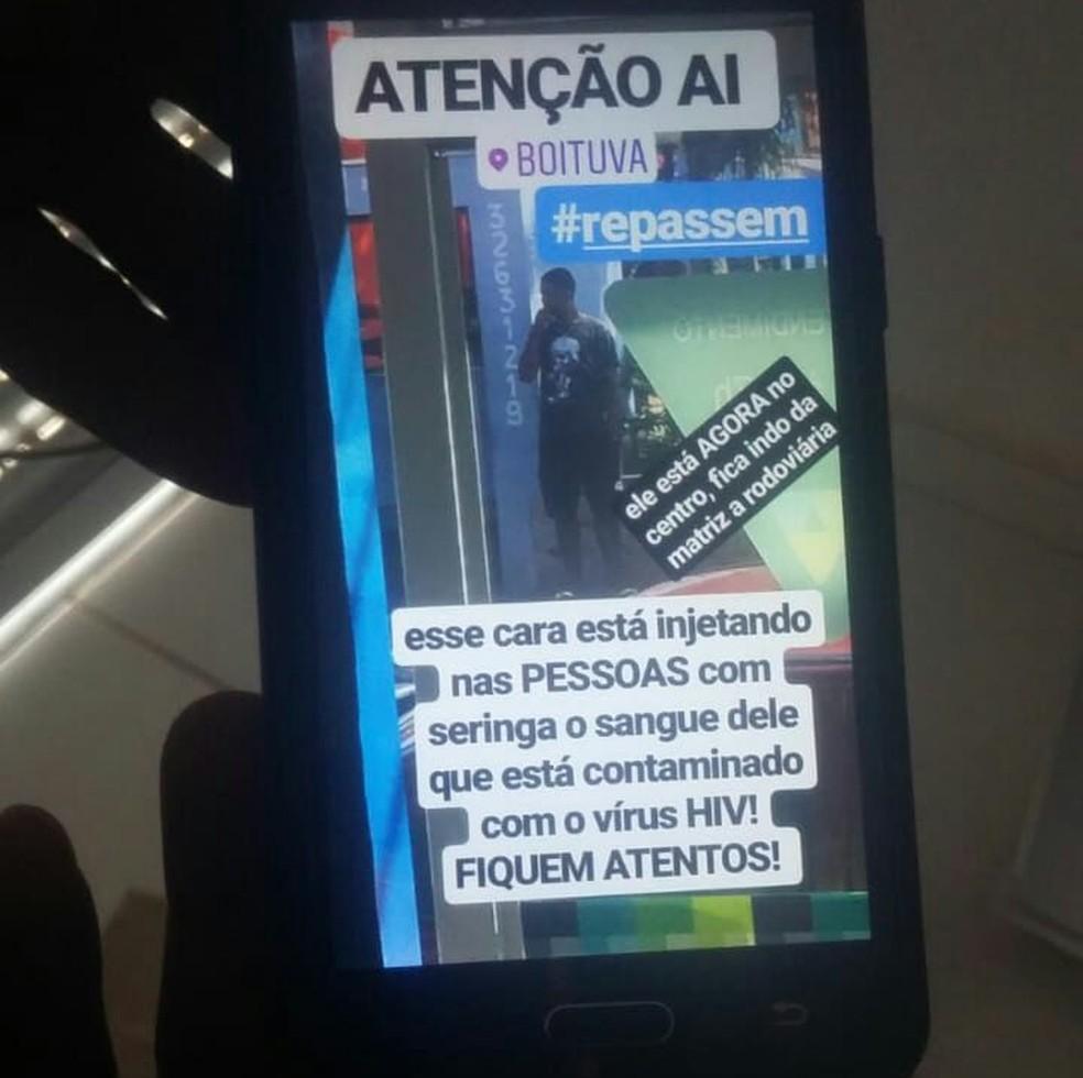 Homem foi vítima de acusações em Boituva (SP) (Foto: Arquivo Pessoal/Divulgação)