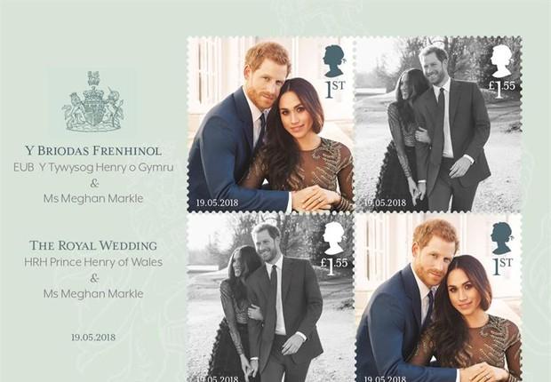 GB cria selos dedicados ao casamento de Harry e Meghan  (Foto:  EFE/ British Royal Mail)