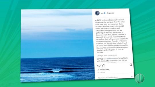 WSL cancela etapa de Margaret River do Mundial de Surfe após ataques de tubarão