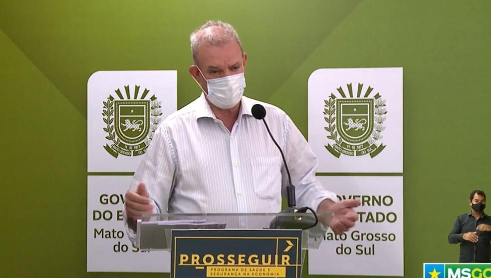 Secretário estadual de Saúde de MS, Geraldo Resende — Foto: Redes Sociais/Reprodução