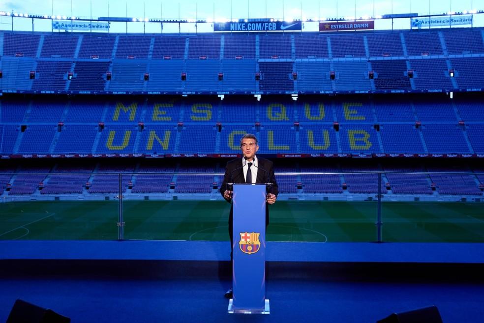 Joan Laporta é o novo presidente do Barcelona — Foto: Divulgação/Barcelona