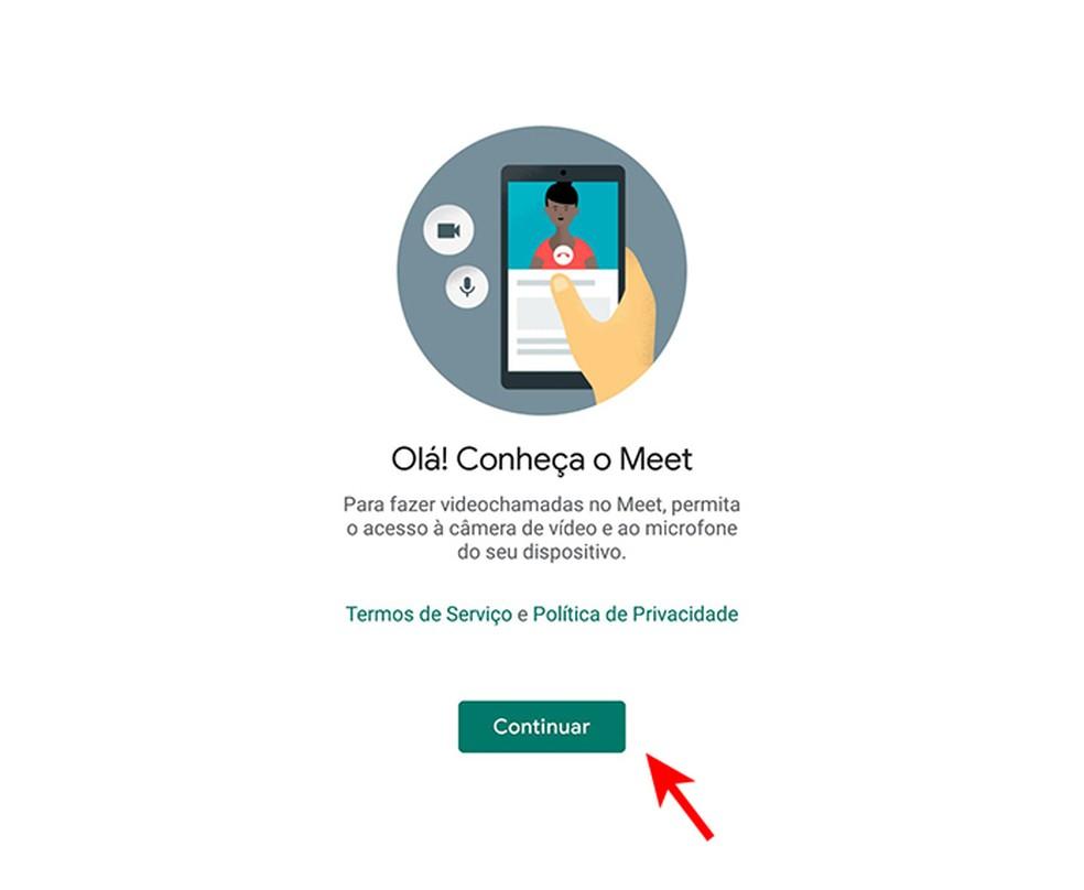 Acessando o Google Meet pelo celular