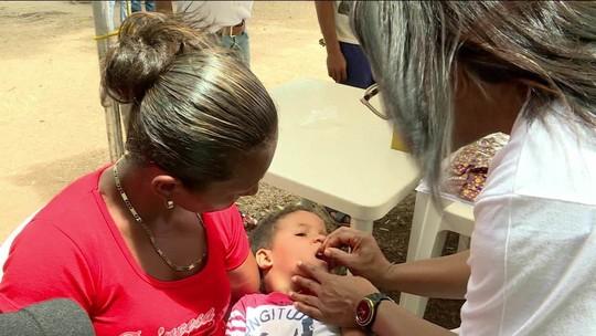 Venezuelanos são vacinados contra sarampo