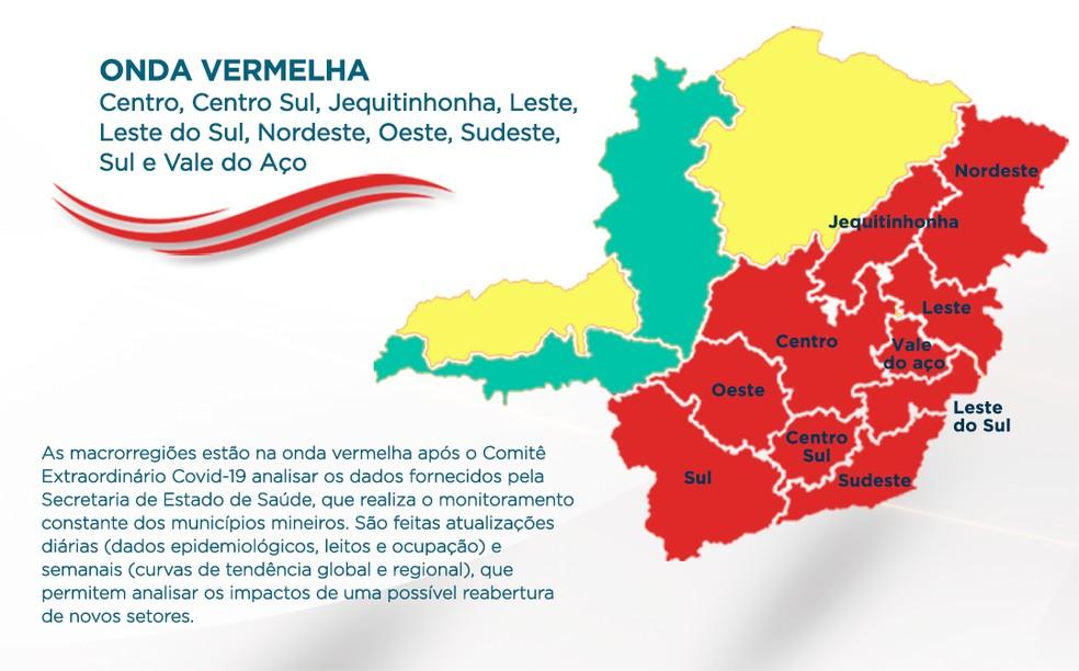 Sul de Minas regride mais uma vez para onda vermelha do Minas Consciente  — Foto: Imprensa MG/Divulgação