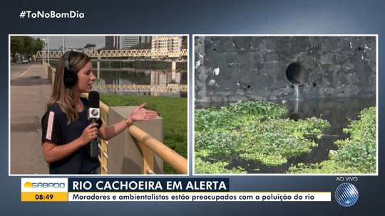 Poluição do Rio Cachoeira deixa moradores e ambientalistas preocupados, em Itabuna