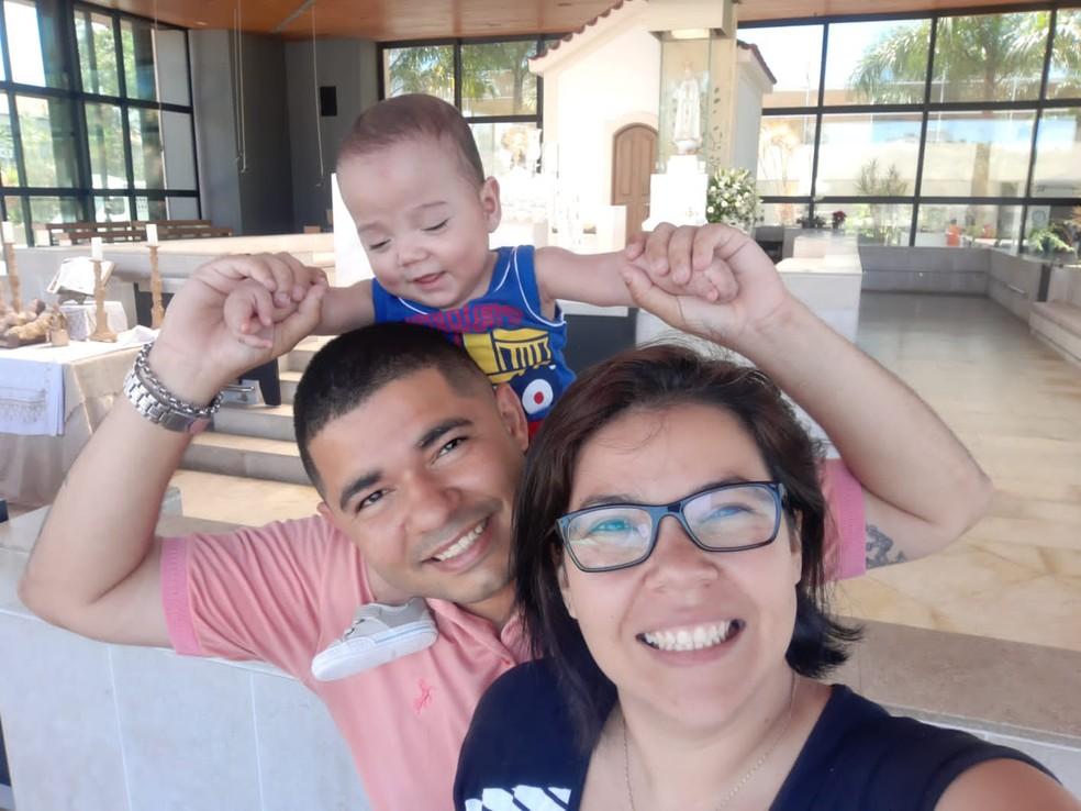 Por ter nascido prematuro extremo, o pequeno Bernardo está no grupo de risco da Covid-19 — Foto: Foto: Arquivo Pessoal