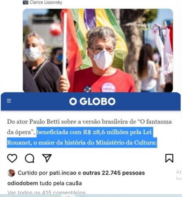Fake news: gabinete do ódio faz montagem com foto de Paulo Betti