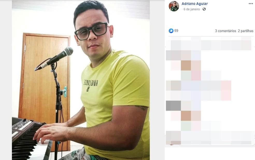 Cantor de 26 anos é morto a tiros enquanto se apresentava em bar de Eunápolis, no sul da Bahia — Foto: Reprodução/Instagram