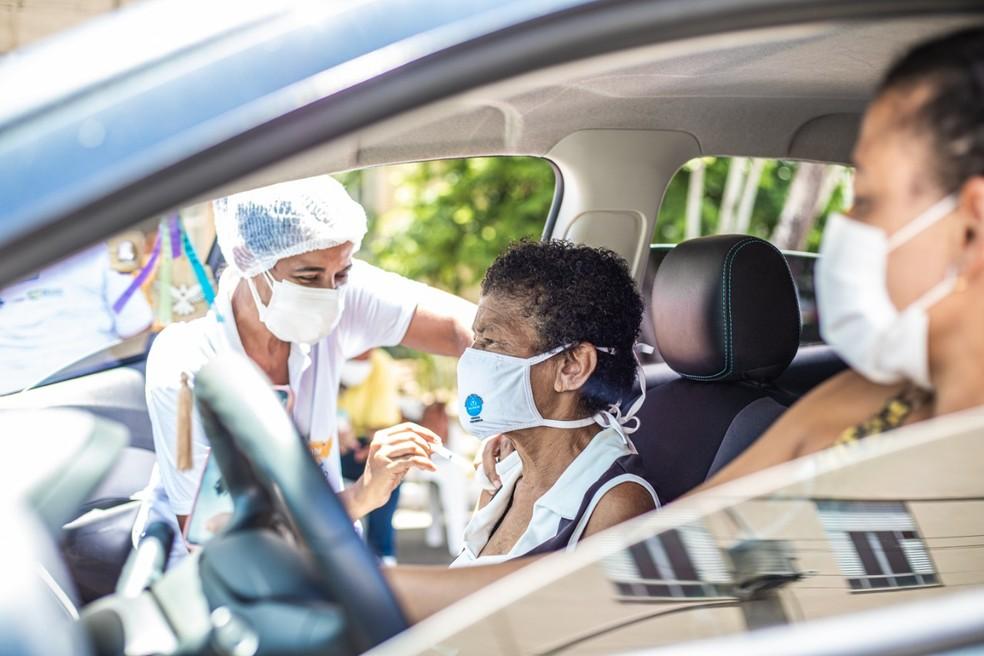 Vacinação contra Covid em Salvador — Foto: Divulgação/Prefeitura de Salvador