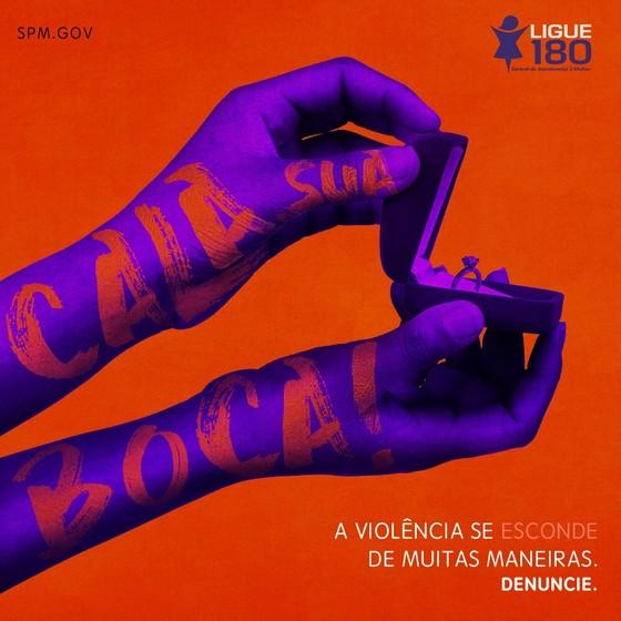 No dia dos Namorados, ação do governo alerta para a violência contra as mulheres (Foto: Reprodução)