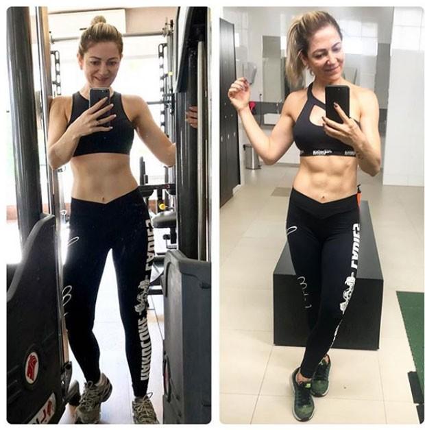 O antes e depois de Karina Lucco (Foto: Reprodução Instagram)