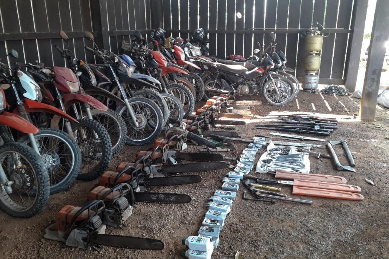 Operação destrói acampamentos clandestinos de madeireiros em área de preservação no sudeste do Pará - Notícias - Plantão Diário