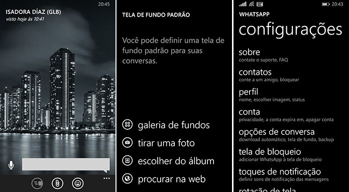 WhatsApp no Windows Phone pode ser instalado no cart?o SD (Foto: Divulga??o/WhatsApp)