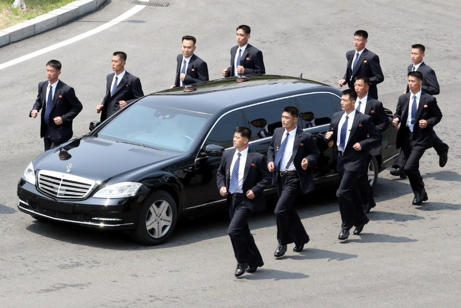 Mercedes-Benz S600 Pullman Guard de Kim Jong-un (Foto: Korea Summit Press Pool/Getty Images)