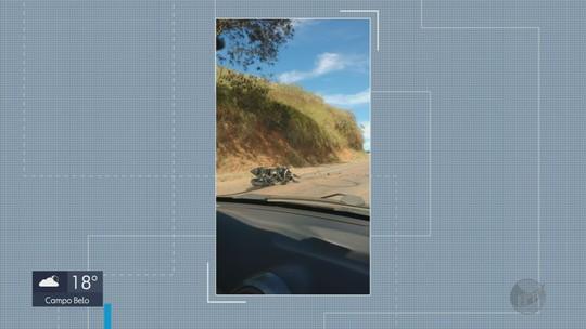 Motociclista de 29 anos morre após bater em lateral de carreta na MG-158, em Itanhandu, MG