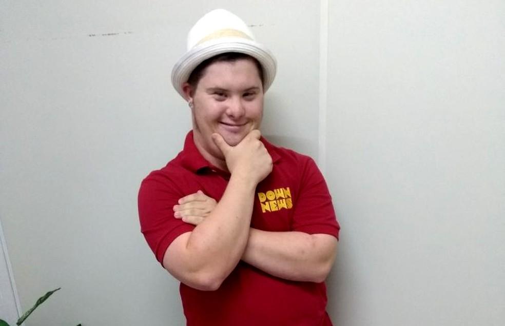 Daniel Miranda tem síndrome de Down e criou o canal no Youtube em fevereiro de 2017  — Foto: Jade Castilho/G1/Arquivo