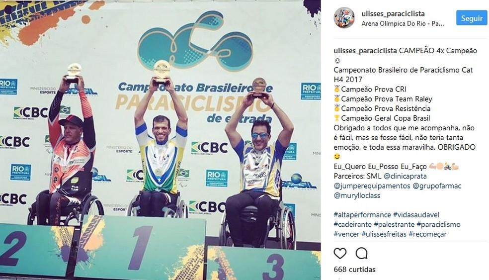 Ulisses Freitas conquista quatro títulos no Rio de Janeiro (Foto: Reprodução/Instagram)