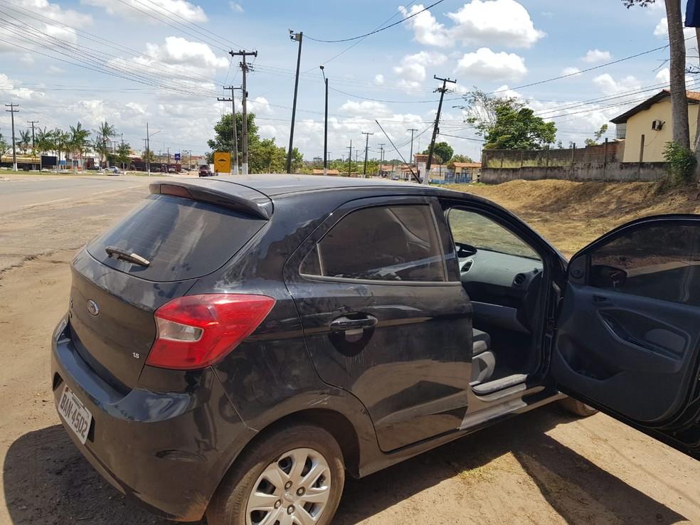 Veículo e o condutor foram encaminhados para Polícia Civil de Santa Inês — Foto: Divulgação/Polícia Rodoviária Federal