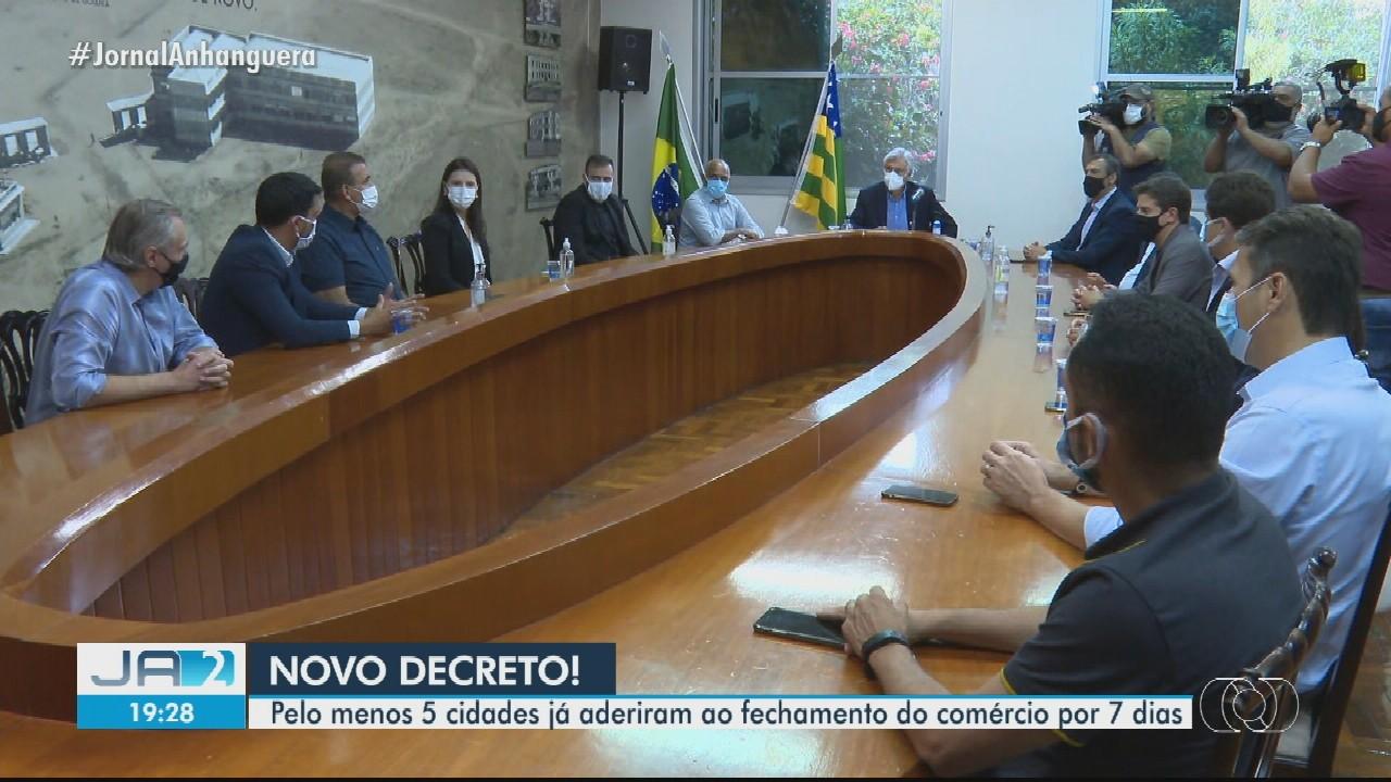 Goiânia e cidades da Região Metropolitana decretam fechamento serviços não essenciais