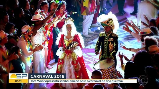 Tom Maior escolhe samba-enredo que vai homenagear Imperatriz Leopoldina no Carnaval 2018