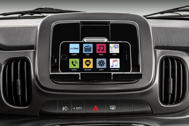 como funciona     nova central multimidia  fiat mobi drive auto esporte noticias