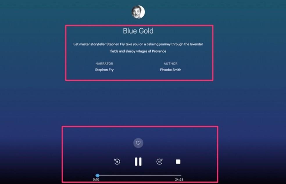 Áudio com histórias relaxantes do serviço online Calm que podem ajudar com o sono ? Foto: Reprodução/Marvin Costa