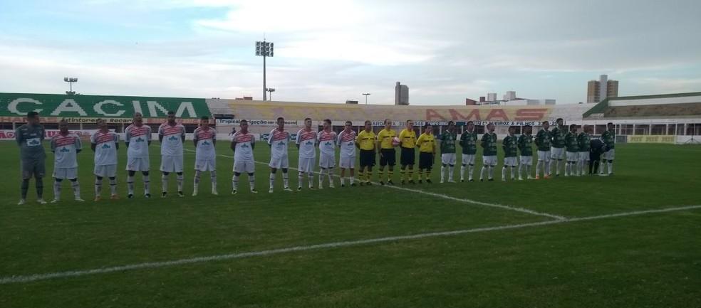 Potiguar de Mossoró e Assu se enfrentaram no encerramento da primeira rodada. Camaleão venceu por 4 a 1 (Foto: Oscar Xavier/InterTV)