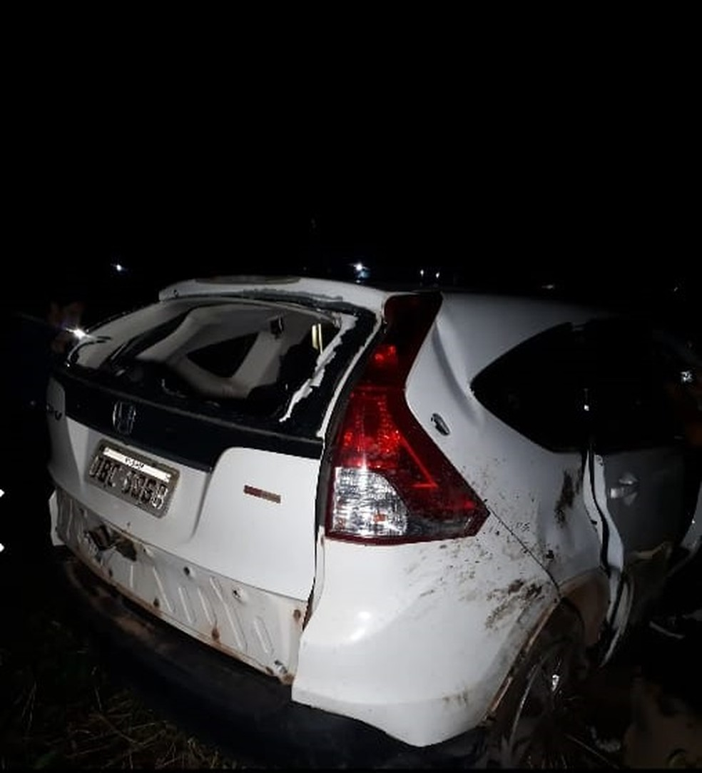 Quadrilha fugiu levando o carro das vítimas — Foto: Polícia Militar/Divulgação